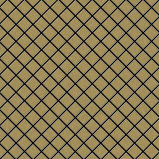 Mosaik Fliese massiv Metall Titan gebürstet in gold 1, 6mm stark ALLOY Diamond-Ti-GB 0, 91 m2