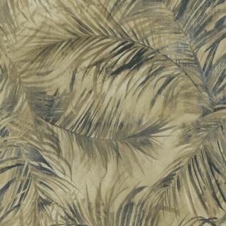 Natur Vliestapete FERUS 205-205 WILD Palmen Dschungel beige anthrazit-grau grün 5, 33 qm