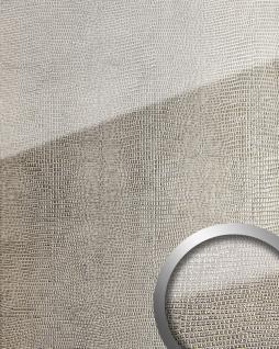 Wandpaneel Glas-Optik WallFace 16968 LEGUAN Luxus Dekor Wandverkleidung selbstklebend silber grau   2, 60 qm