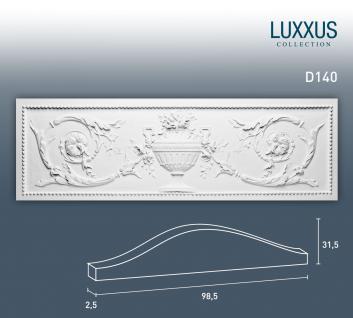 Pediment Türaufsatz Stuck Orac Decor D140 LUXXUS Stuckprofil Stuckgesims klassisches Ornament Wand Dekor weiß | 99 cm