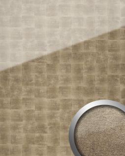 Wandverkleidung selbstklebend bronze grau WallFace 17952 LUXURY Wandpaneel Glas-Optik Cubes-Muster   2, 60 qm