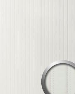 Wandpaneel Leder Design gesteppt Wandplatte WallFace 18601 LOUNGE Wandverkleidung selbstklebend matt-weiß | 2, 60 qm