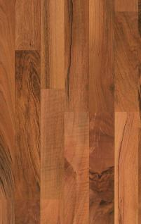 MEISTER 211 Klick Laminat Laminatboden Nussbaum Holz-Nachbildung 3-Stab Schiffsboden | 3, 06 qm / 12 Dielen