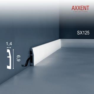 Sockelleiste Fußleiste von Orac Decor SX125 AXXENT Profilleiste Wand Boden Leiste mit Kabelschutz Funktion | 2 Meter