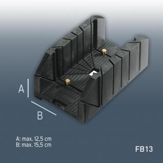 Gehrungslade Orac Decor Zubehör FB13 mit vielen Winkeln max Verarbeitungsgröße: H12, 5 cm x B15, 5 cm | robustes Hart PVC