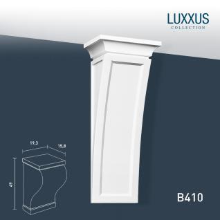Stützkonsole Stuck Orac Decor B410 LUXXUS Konsole klassische Form Wandboard Stuckgesims Wand Dekor Element weiß 50 cm