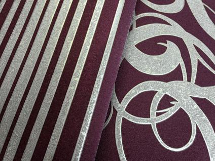 Streifen tapete vliestapete edem 973 35 xxl design tapete for Tapete violett