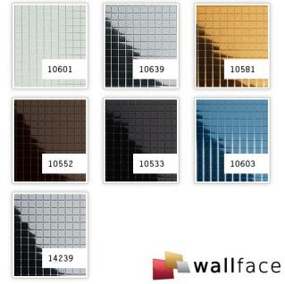 Wandpaneel Wandverkleidung WallFace 10581 M-Style Design Blickfang Metall Mosaik Fliesen selbstklebend spiegel gold | 0, 96 qm - Vorschau 2