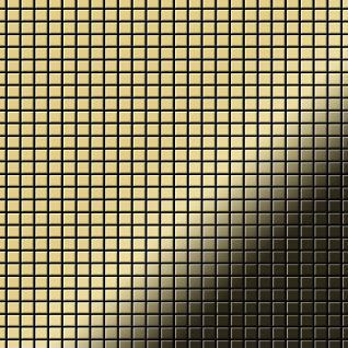Mosaik Fliese massiv Metall Messing gewalzt in gold 1, 6mm stark ALLOY Glomesh-BM 1, 07 m2