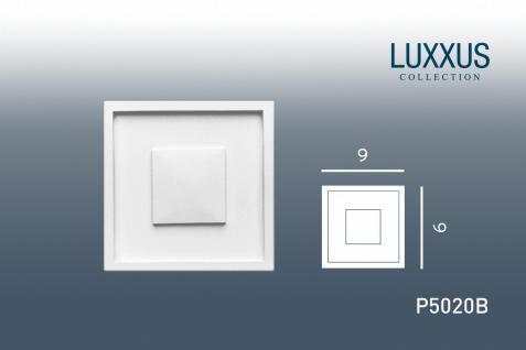 Stuck Quadrat Zierelement Orac Decor P5020B LUXXUS Eckelement Stuckgesims klassisches Wand Dekor Element | 9 x 9 cm