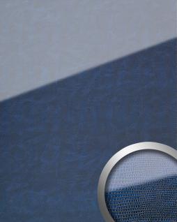 Wandpaneel Glas-Optik WallFace 16974 LEGUAN Luxus Dekor Wandverkleidung selbstklebend dunkel blau   2, 60 qm