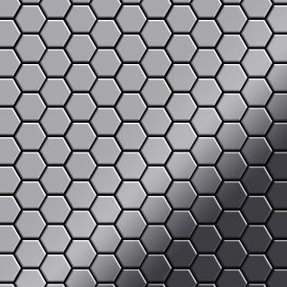 Mosaik Fliese massiv Metall Edelstahl marine hochglänzend in grau 1, 6mm stark ALLOY Honey-S-S-MM 0, 92 m2