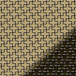 Mosaik Fliese massiv Metall Titan hochglänzend in gold 1, 6mm stark ALLOY Swiss Cross-Ti-GM 0, 88 m2