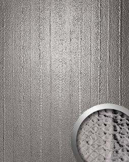 Wandpaneel Schlangen Optik WallFace 14299 SNAKE Design Blickfang Dekor selbstklebend Tapete Verkleidung platin   2, 60 qm