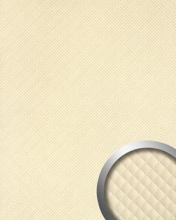 Wandpaneel Leder Design Karo Muster WallFace 15657 ROMBO Wandplatte Wandverkleidung selbstklebend creme | 2, 60 qm