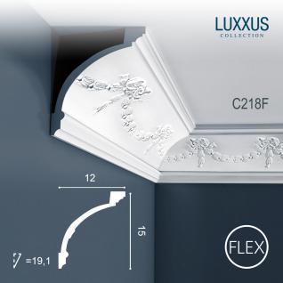 Stuckleiste Orac Decor C218F LUXXUS flexible Zierleiste Eckleiste Dekorprofil Stuckprofil Wand Dekor Leiste | 2 Meter