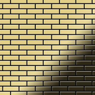 Mosaik Fliese massiv Metall Messing gewalzt in gold 1, 6mm stark ALLOY PK-BM 0, 88 m2