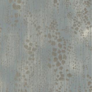 Tiermotiv Vliestapete FERUS 205-702 WILD Leopardenmuster Dschungel pastell-blau silber-grau 5, 33 qm