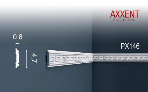 Wandleiste Zierleiste von Orac Decor PX146 AXXENT Profilleiste Friesleiste Stuckprofil Wand Rahmen Dekor Element 2 Meter