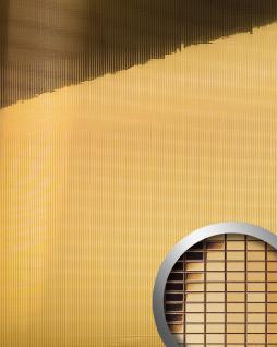 Wandpaneel Wandverkleidung WallFace 10593 M-Style Design Platte EyeCatch Metall Mosaik Party Dekor selbstklebend spiegel gold | 0, 96 qm - Vorschau 1