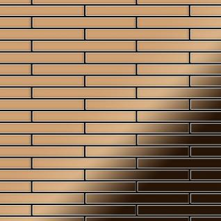 Mosaik Fliese massiv Metall Titan hochglänzend in kupfer 1, 6mm stark ALLOY Deedee-Ti-AM 0, 78 m2