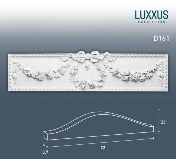Pediment Türaufsatz Stuck Orac Decor D161 LUXXUS Stuckprofil Stuckgesims klassisches Ornament Wand Dekor weiß | 92 cm