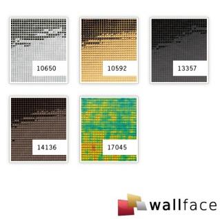 Wandpaneel Wandverkleidung WallFace 10650 M-Style Design Platte EyeCatch Metall Mosaik Dekor selbstklebend spiegel glanz silber | 0, 96 qm - Vorschau 2
