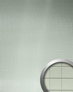Wandverkleidung Wandpaneel WallFace 10601 M-Style Design Paneel Metall Mosaik selbstklebende Tapete edelstahl-grau matt | 0, 96 qm - Vorschau 1