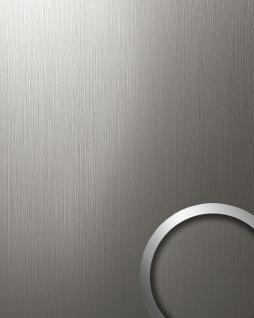 Wandverkleidung Design Platte WallFace 15297 DECO EyeCatch Metall Dekor selbstklebende Tapete edelstahl grau matt | 2, 60 qm