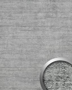 Wandverkleidung Beton Optik WallFace 14802 URBAN Design Platte Kunststoff Blickfang Deko selbstklebende Tapete grau   2, 60 qm