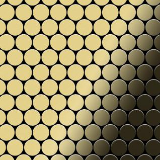 Mosaik Fliese massiv Metall Messing gewalzt in gold 1, 6mm stark ALLOY Dollar-BM 0, 88 m2