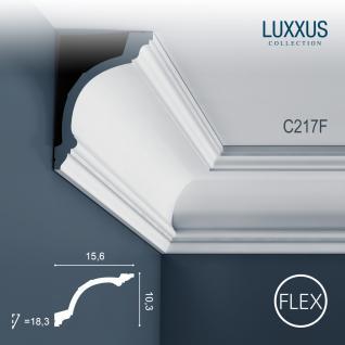 Stuckleiste Orac Decor C217F LUXXUS flexible Zierleiste Eckleiste Dekorprofil Stuckprofil Decken Wand Leiste | 2 Meter