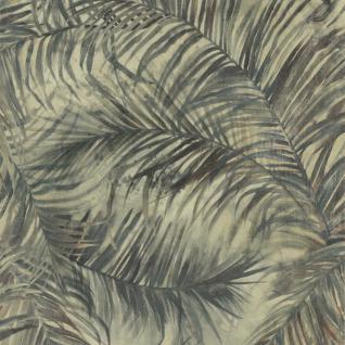 Natur Vliestapete FERUS 205-201 WILD Palmen Dschungel creme-weiß grau-blau 5, 33 qm