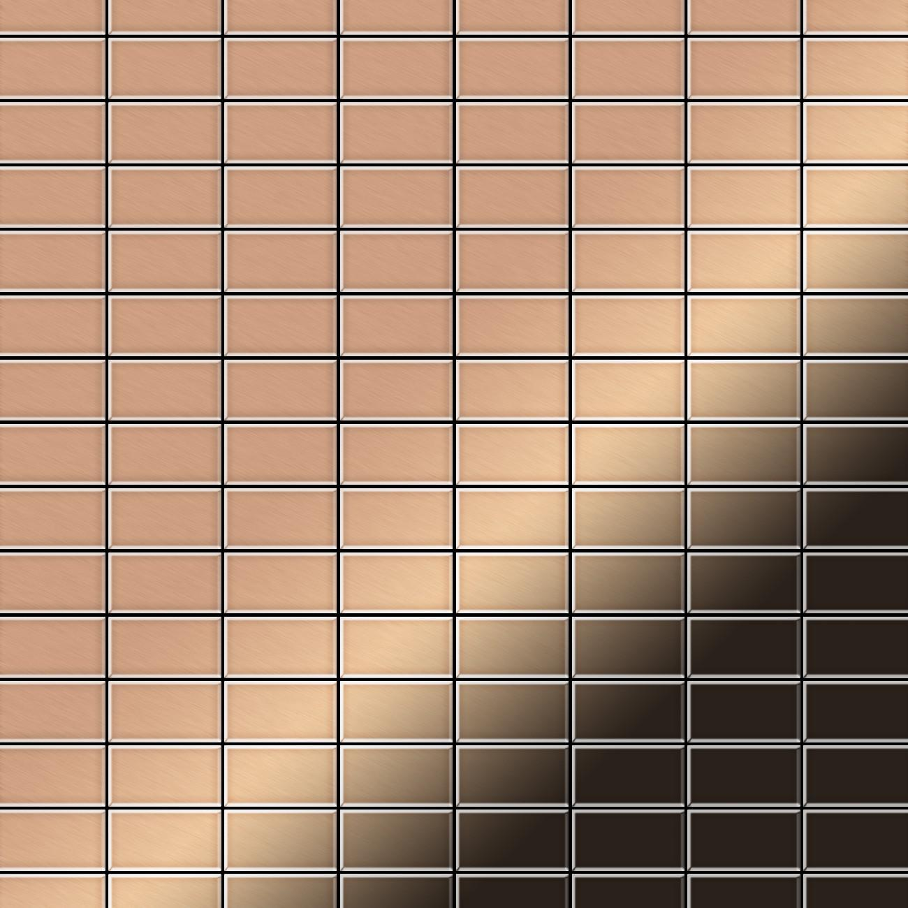 Mosaik fliese massiv metall kupfer gewalzt in kupfer 1 6mm stark alloy bauhaus cm 1 05 m2 - Mosaik fliesen bauhaus ...