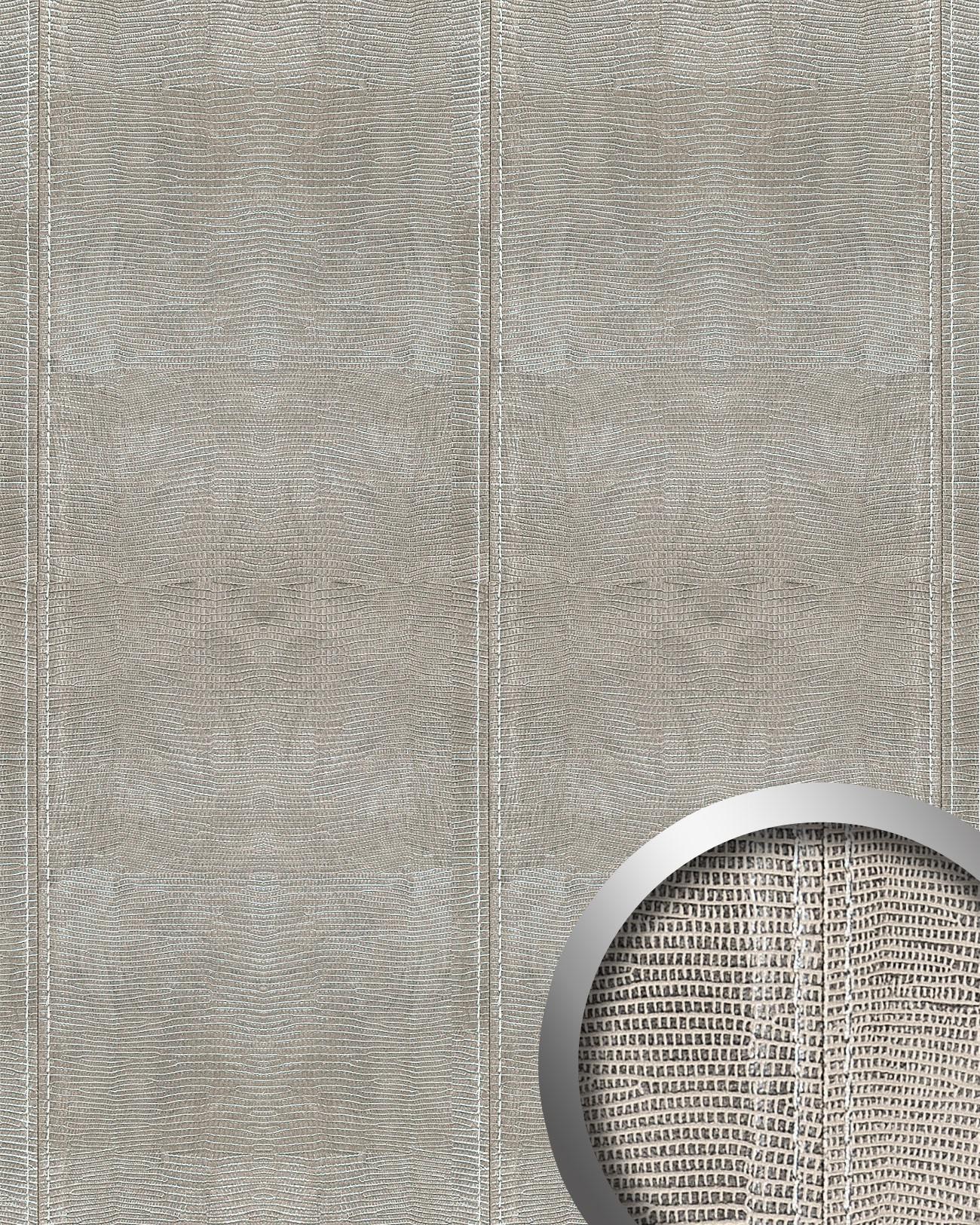 wandpaneel leder blickfang wallface 15006 leguan design dekor echtnaht selbstklebende tapete. Black Bedroom Furniture Sets. Home Design Ideas