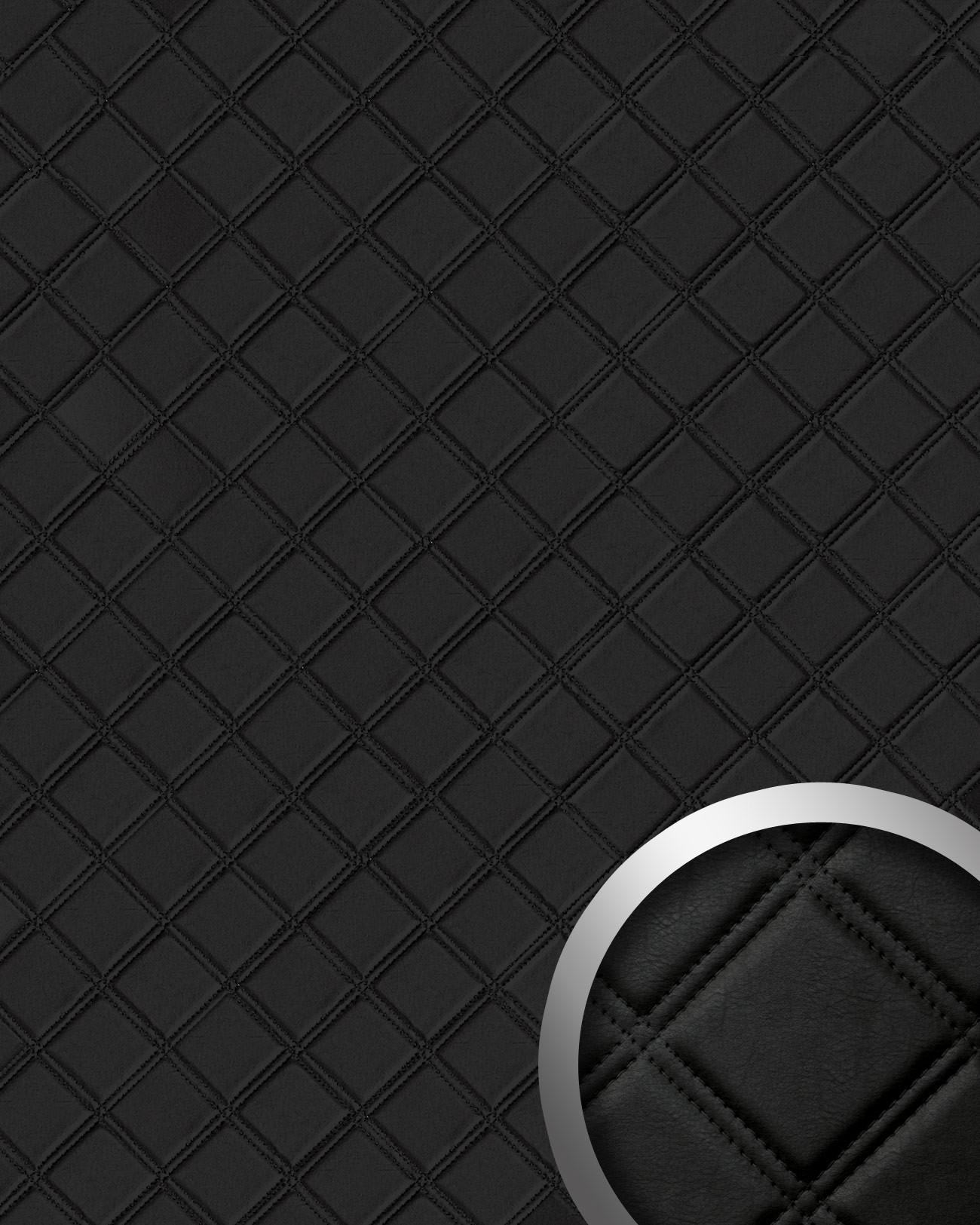 wandpaneel karo leder luxus 3d wallface 15030 rombo blickfang dekor selbstklebende tapete. Black Bedroom Furniture Sets. Home Design Ideas
