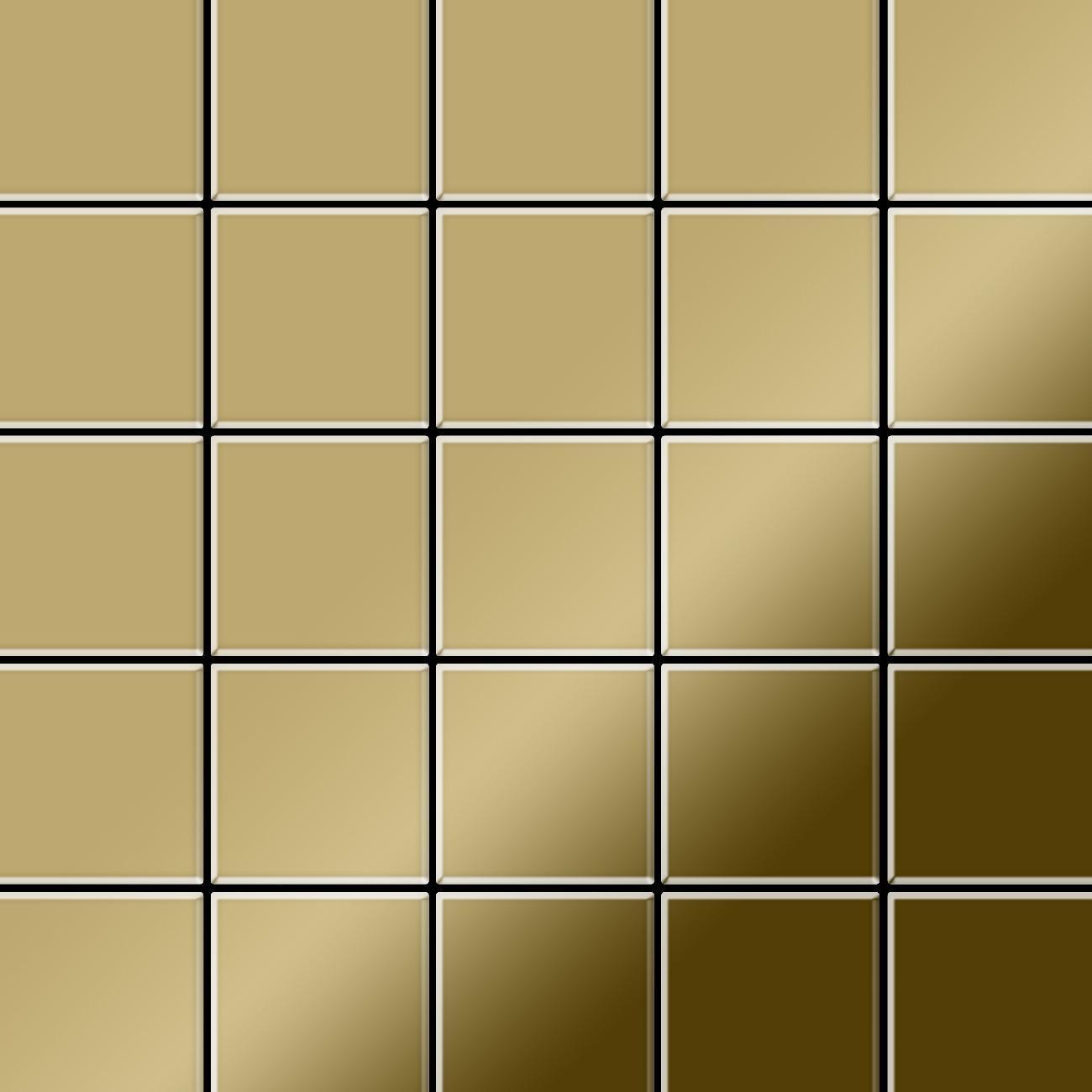 mosaik fliese massiv metall titan hochgl nzend in gold 1 6mm stark alloy century ti gm 0 5 m2. Black Bedroom Furniture Sets. Home Design Ideas