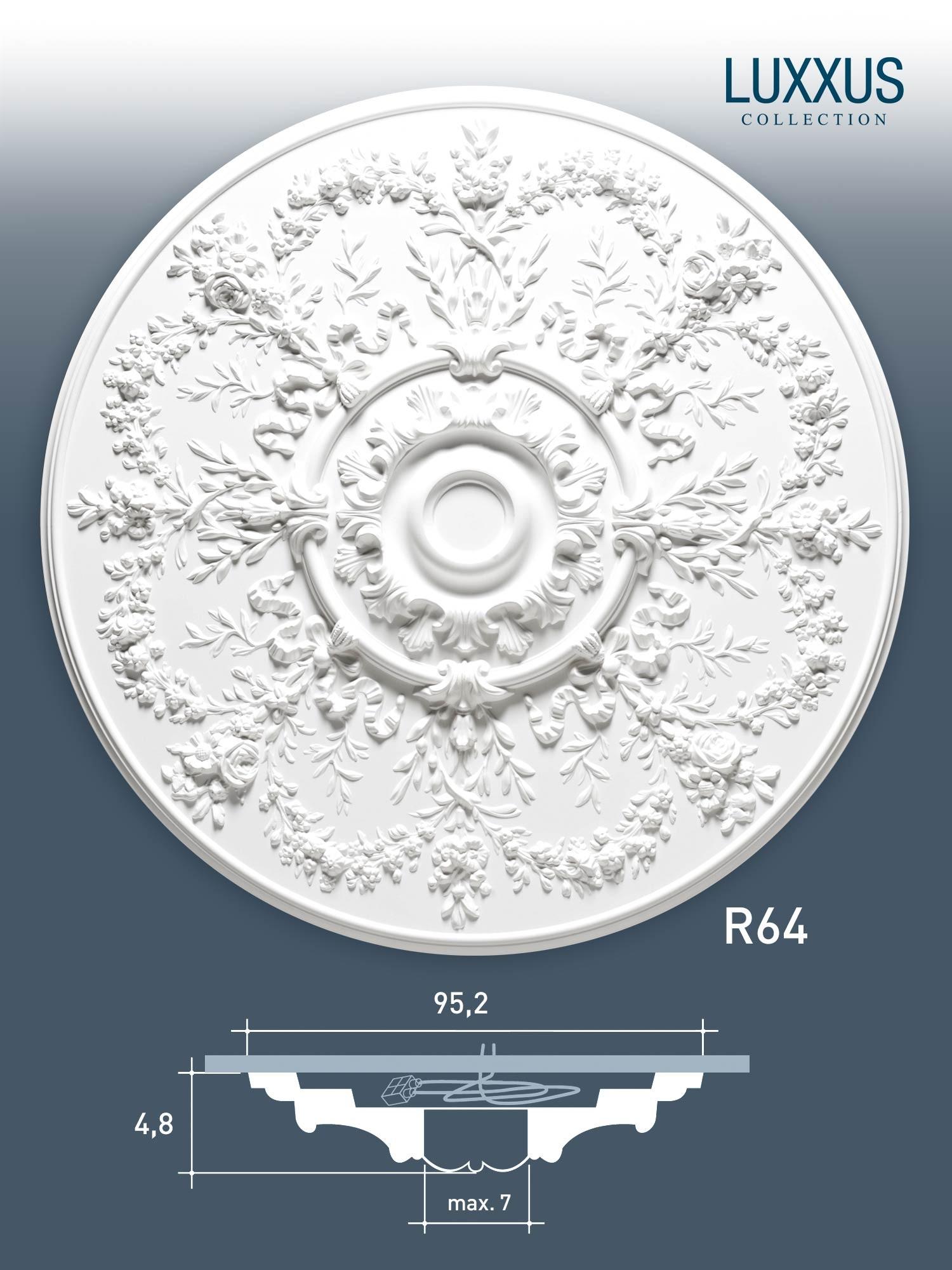 deckenrosette stuck orac decor r64 luxxus rosette. Black Bedroom Furniture Sets. Home Design Ideas