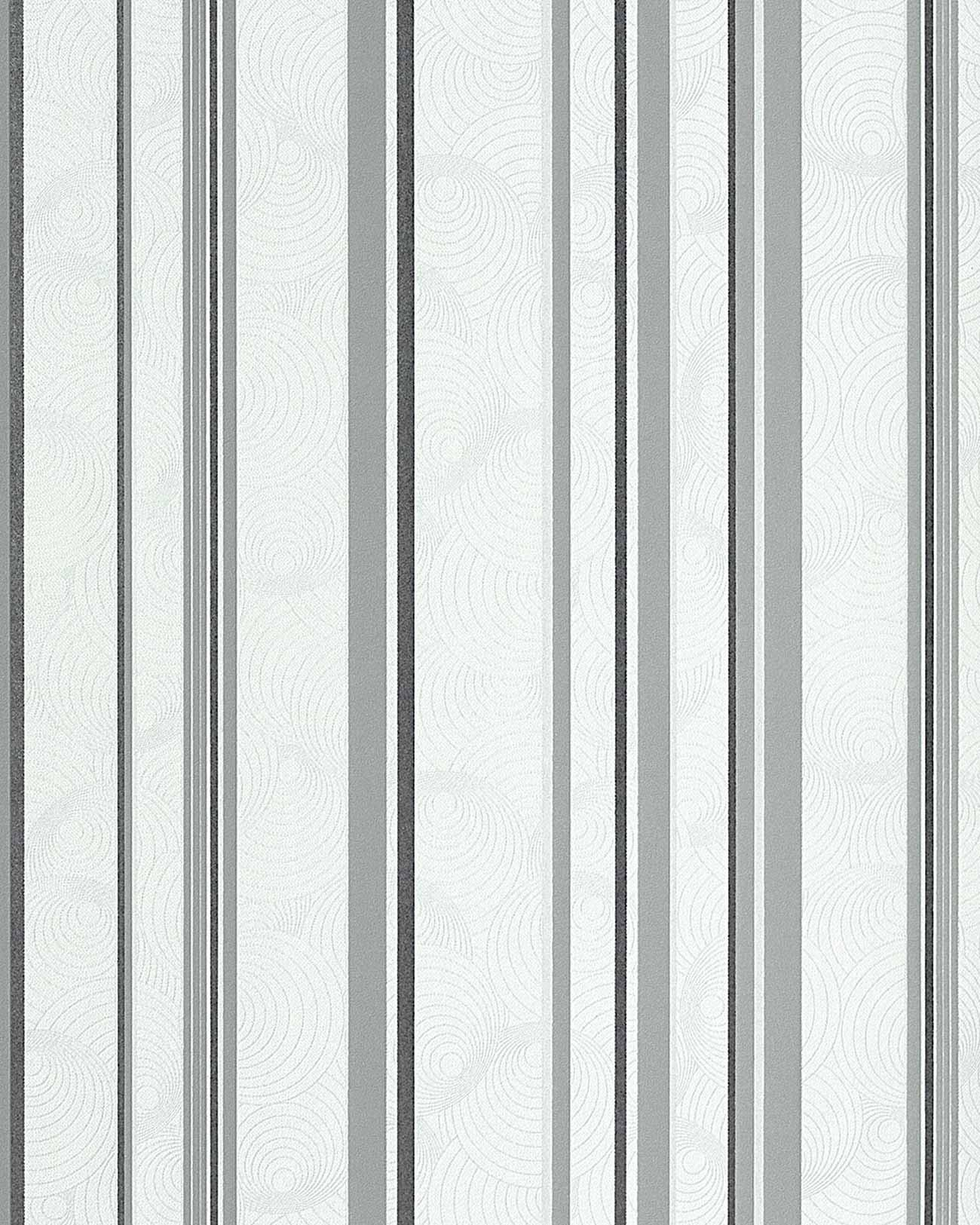 grau gestreifte tapete streifentapete stal silber grau von essener tapeten grun grau. Black Bedroom Furniture Sets. Home Design Ideas