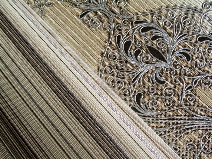 streifen tapete edem 097 23 vinyltapete designer tapete prunkvolle modern und edel braun. Black Bedroom Furniture Sets. Home Design Ideas