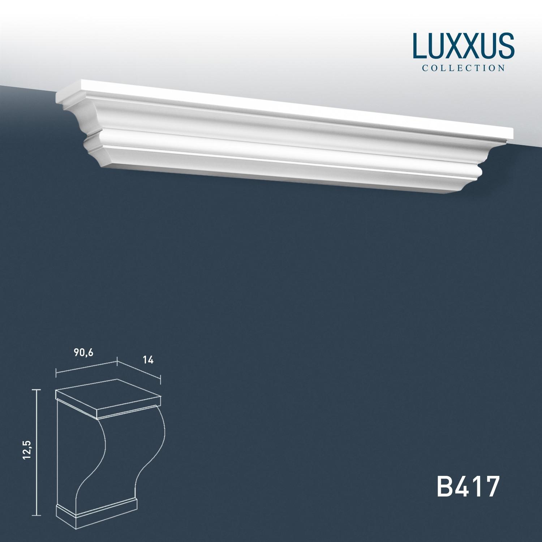 wandregal stuckgesims orac decor b417 luxxus konsole wandboard stuck dekor element wei 90 cm. Black Bedroom Furniture Sets. Home Design Ideas