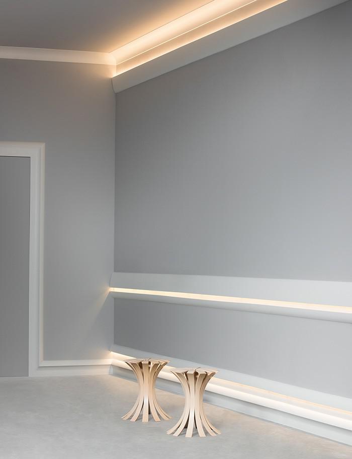 indirekte beleuchtung zierleisten. Black Bedroom Furniture Sets. Home Design Ideas