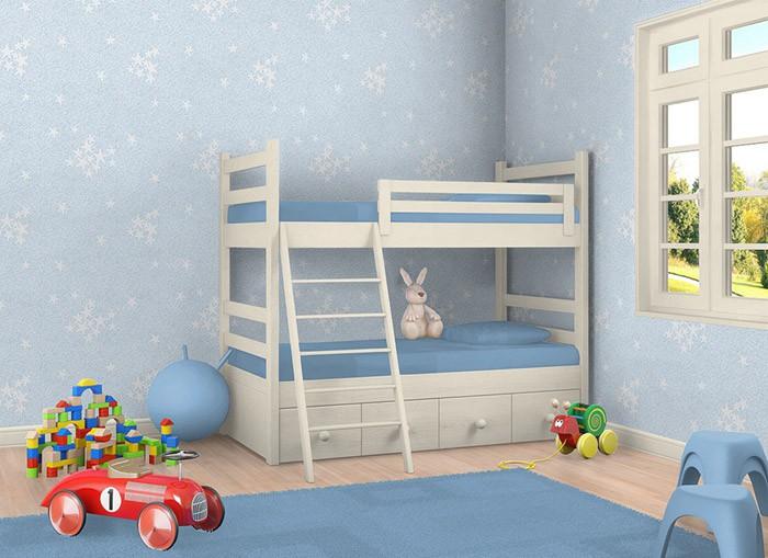 kindertapete sternentapete edem 533 32 decken wand tapete blau leuchtende sterne kaufen bei e. Black Bedroom Furniture Sets. Home Design Ideas