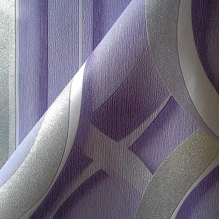 Streifen tapete vliestapete edem 602 92 xxl designer for Muster tapete lila grau