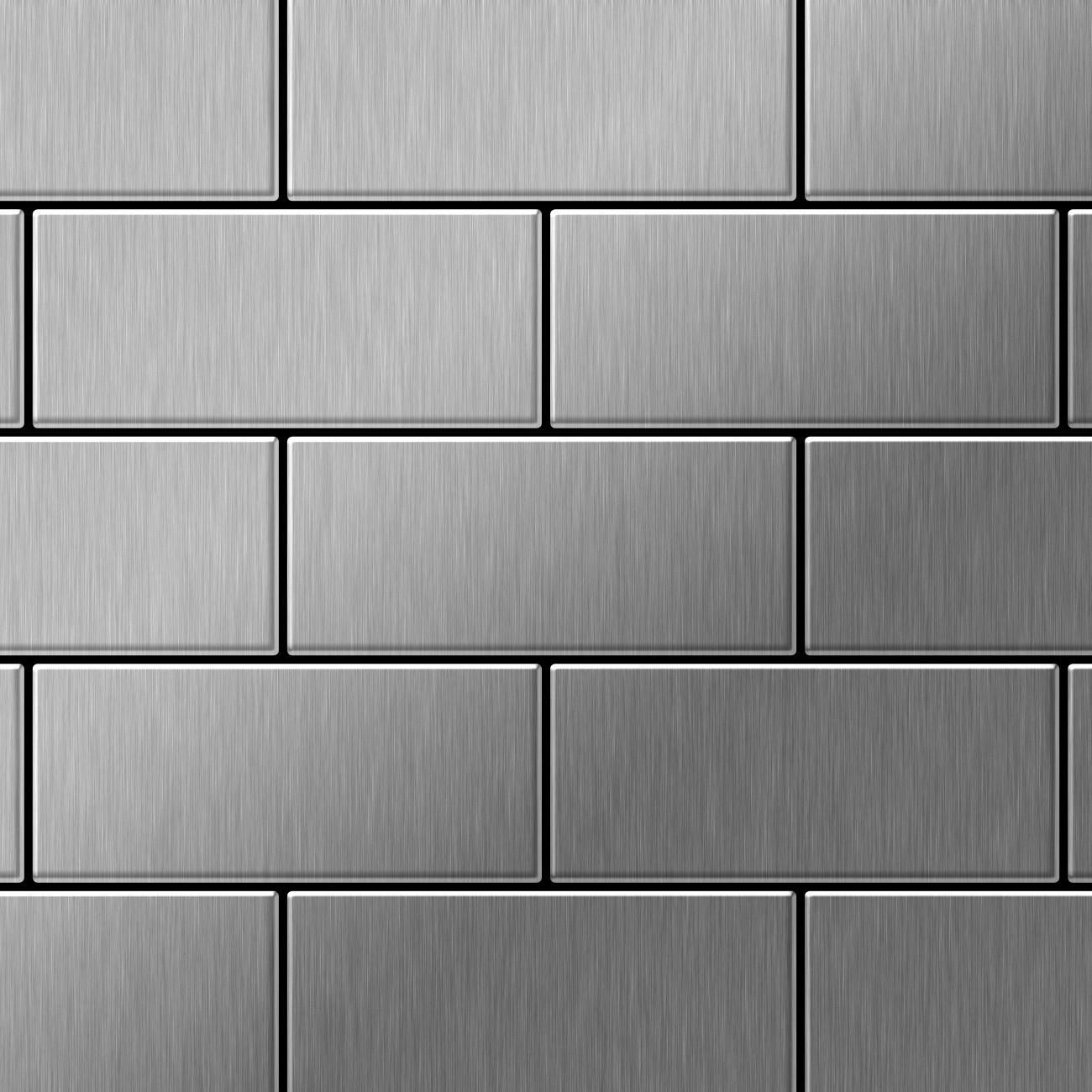 mosaik fliese massiv metall edelstahl geb rstet in grau 1 6mm stark alloy subway s s b 0 58 m2. Black Bedroom Furniture Sets. Home Design Ideas