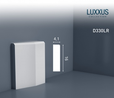 Türumrandung Stuck Orac Decor D330LR LUXXUS Sockel Zierelement Profil Wand Dekor Element robust und stoßfest | 16cm hoch
