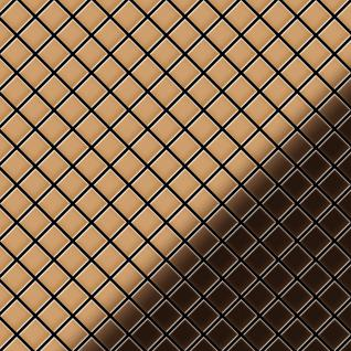 Mosaik Fliese massiv Metall Kupfer gewalzt in kupfer 1, 6mm stark ALLOY Diamond-CM 0, 91 m2