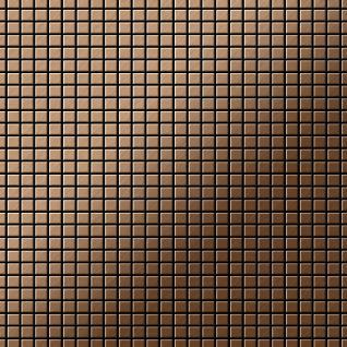 Mosaik Fliese massiv Metall Titan gebürstet in kupfer 1, 6mm stark ALLOY Glomesh-Ti-AB 1, 07 m2