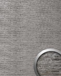 Wandpaneel Luxus Struktur Leder WallFace 15659 PERSIAN TREASURE Verkleidung selbstklebende Tapete platin-grau   2, 60 qm
