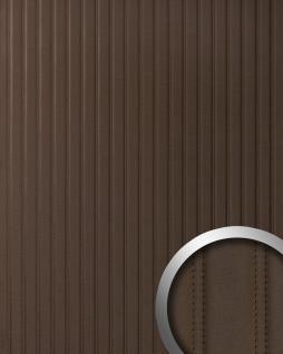 Wandpaneel Leder Design gesteppt Wandplatte WallFace 18603 LOUNGE Wandverkleidung selbstklebend mokka-braun | 2, 60 qm